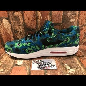 Nike Shoes - NEW Nike Air Max 1 Floral Blue Mens Vapormax 97 95